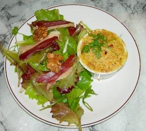 Crumble fruité de foie gras