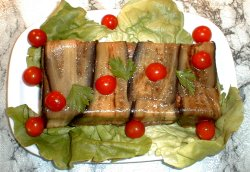 Millefeuille d'aubergines