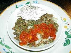 Salade de lentilles selon Nicole